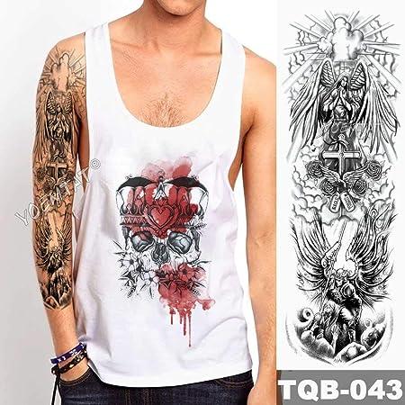 3 Piezas Tatuaje de Manga de Brazo Grande Corona de león Pegatina ...