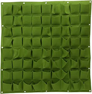 Gojiny 72 Pockets Vertical Wall Planter, Felt Garden Planting Bags Wall Hanging Gardening Planter Vertical Greening Grow Bags for for Plants, Flowers and Vegetables