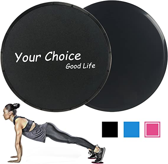 Travel Dual Sided Portable Gliding Fitness Equipment for Home Workout Pilates Yoga Ascend Core Slider Exercise Discs with Mesh Bag
