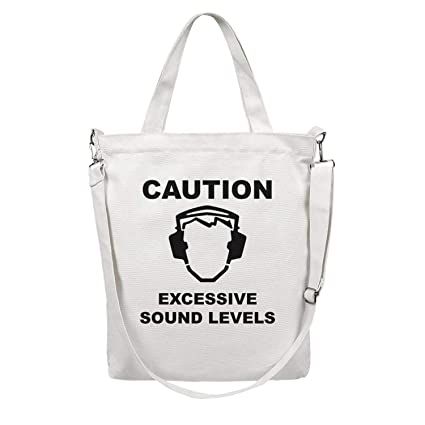 9a7c4679cb4d Amazon.com: 12.5X15 Inches Cute Zip Casual Canvas Large Tote Bag For ...