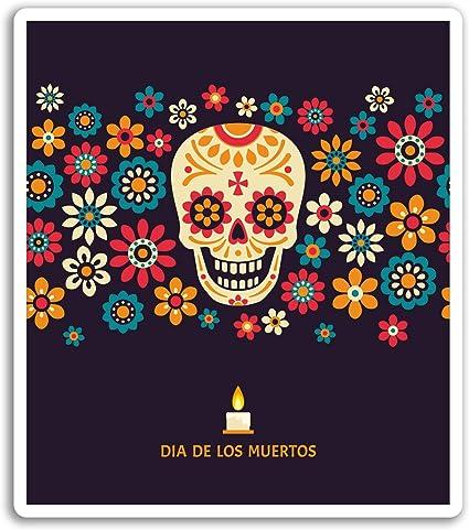 2 X 10cm día de los muertos Pegatinas De Vinilo-Azúcar Calavera Pegatina de México #20827