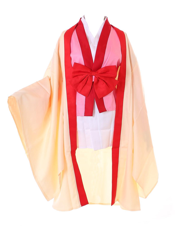 Kawaii-Story MN-49 Izuna No Game No Life gelb Japan Kimono 6-tlg. Set Kleid Cosplay Set Kostüm (XL)