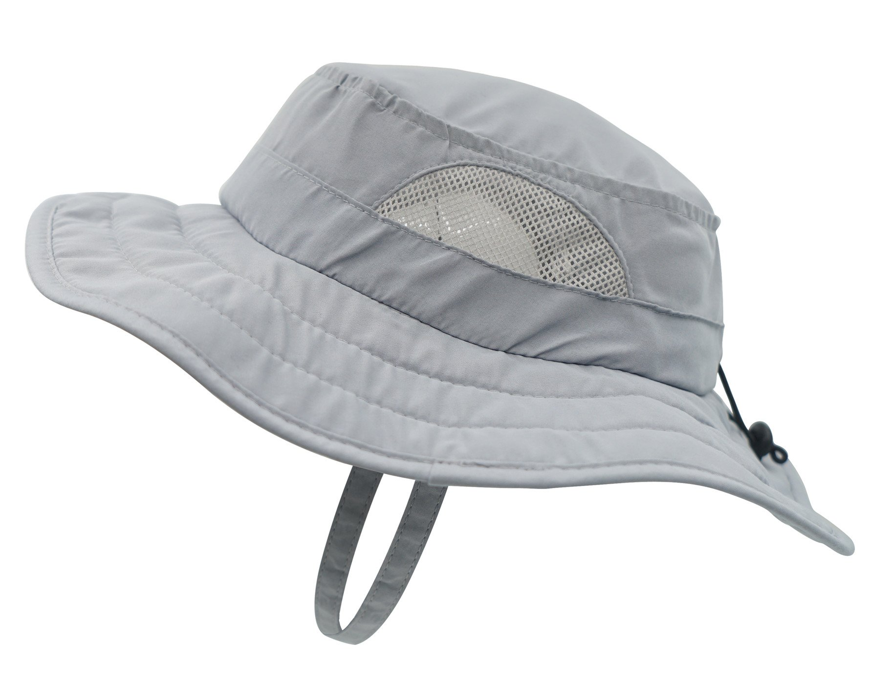 Connectyle Kids UPF 50+ Mesh Safari Sun Hat UV Sun Protection Hat Summer Daily Bucket Play Hat Grey
