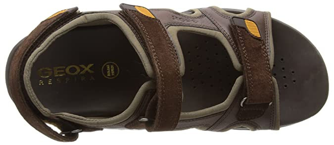 b4fbe28f9f6f Geox Mens Uomo Summer B Fashion Sandals U4276B0CE22C6004 Chestnut 6.5 UK