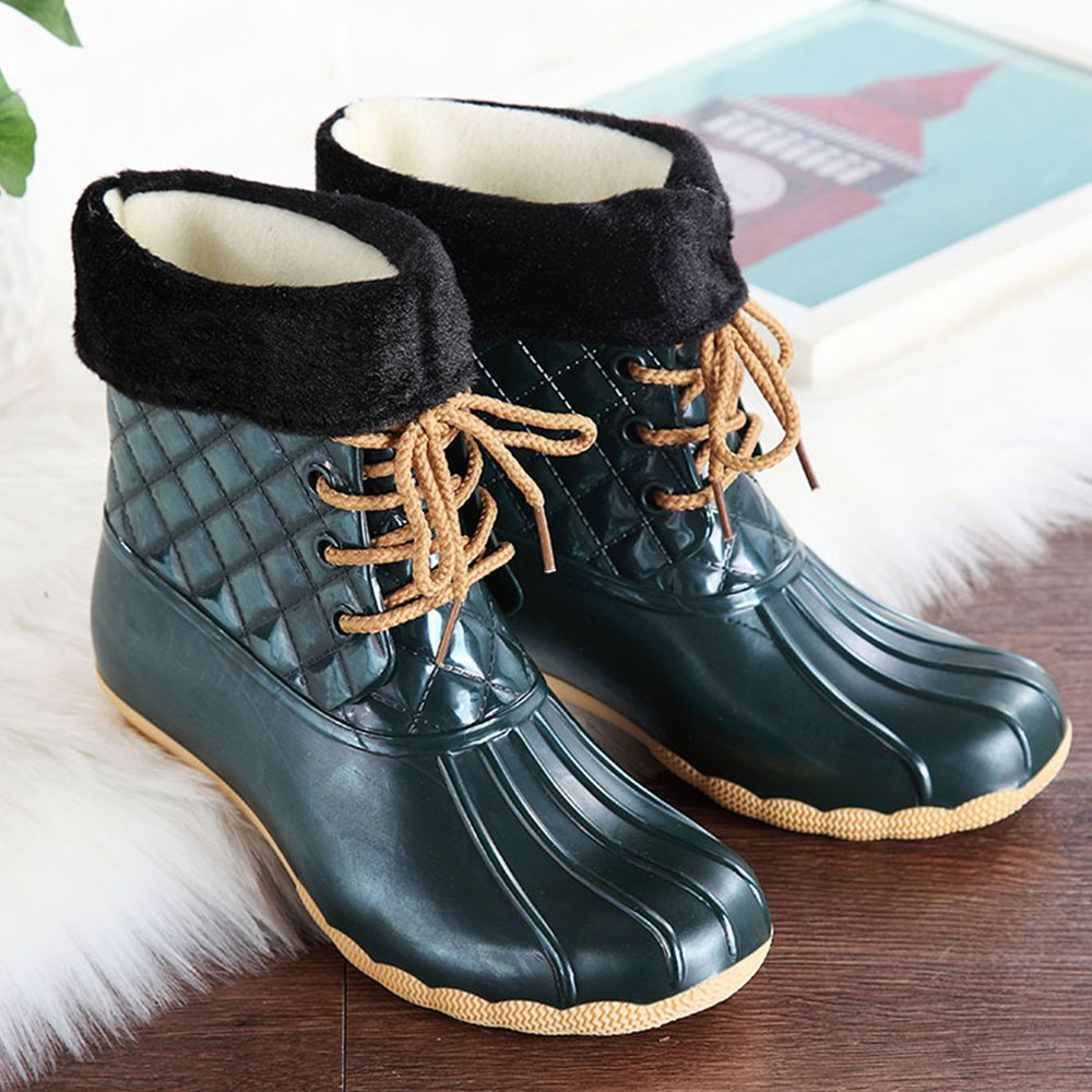 Office & School Supplies Reliable Lady Winter Shoe Woman Mid-calf Snow Boots Waterproof Pu Flowers Shaft Plush Fur Warm Style Big Size Popular Style Free Shipping Drip-Dry
