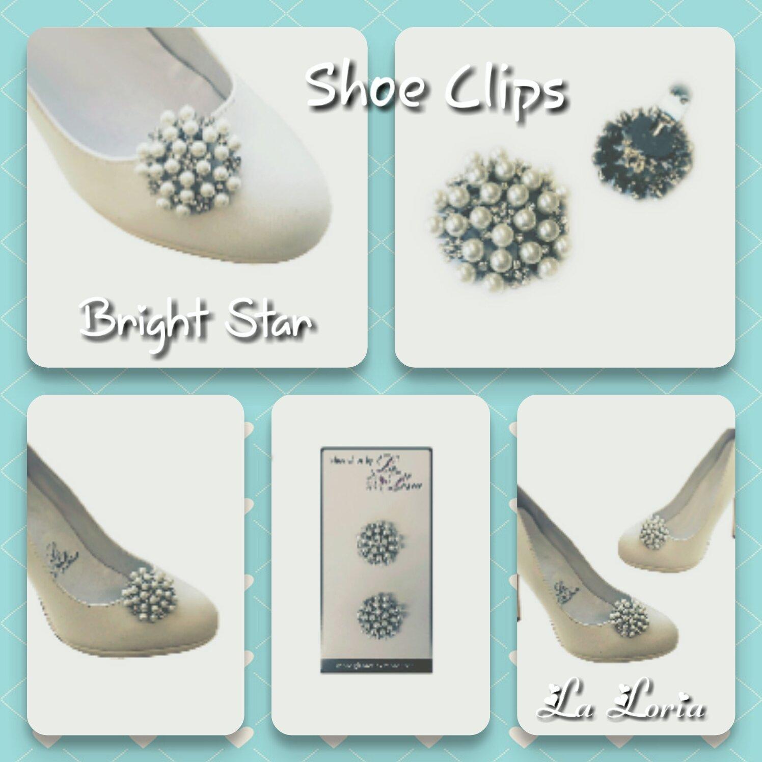 La Loria Femme 2 Clips Chaussures Bright Star Amovible Accessoires Bijoux de chaussures