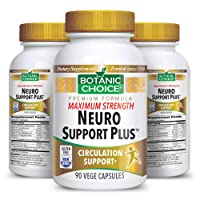 Botanic Choice Maximum Strength Neuro Support Plus - Adult Daily Supplement - Delivers Essential Vitamins to Support Nerves Healthy Circulation and Blood Sugar Levels 90 Capsules