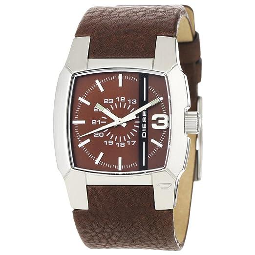 Diesel DZ1090 - Reloj de caballero de cuarzo, correa de piel color marrón: Diesel: Amazon.es: Relojes