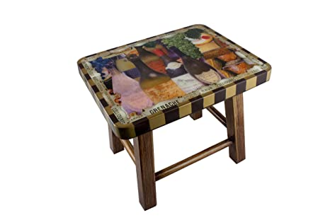 Incredible Amazon Com Annie Modica Wine And Cheese 12 Footstool Step Machost Co Dining Chair Design Ideas Machostcouk