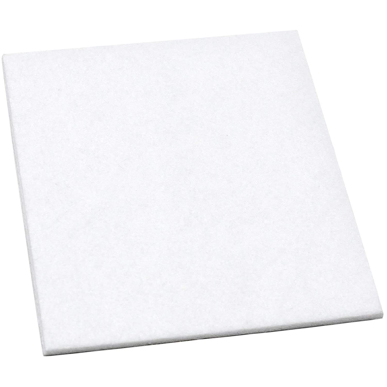 carr/é Adsamm/® blanc patins en feutre 100x100 mm 3,5 mm hauteur  /patins glisseurs auto-adh/ésifs de qualit/é optimale