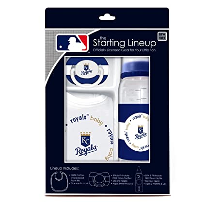 MLB bebé fanático babero, biberón y chupete Set de regalo Kansas ...