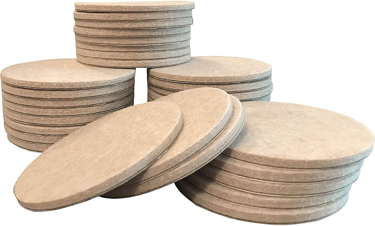 "Felt so good 8804E Self Adhesive Felt Furniture Pads 3"", Beige, 32 Pack"