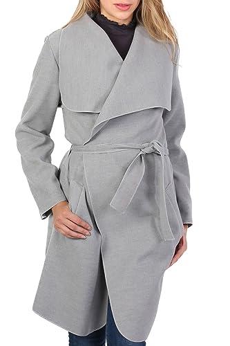 PILOT® mirada lana llanura de manga larga capa de envoltura