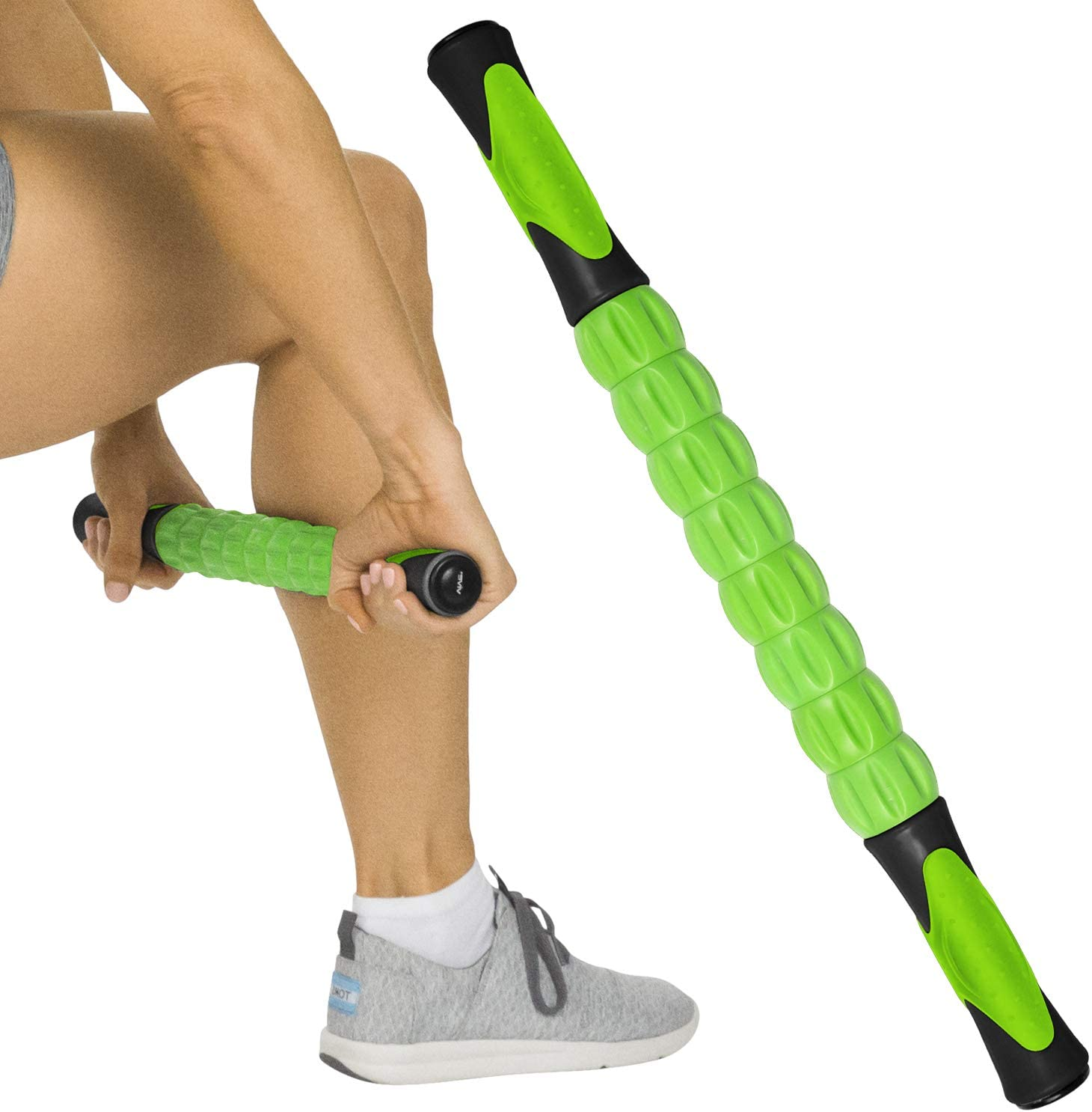 Leg and Back Recovery Massage Roller Stick for Exercise Runners and Dancers Body Therapy Massager Stick Tool for Relief Muscle Soreness Help Calf Muscle Roller Stick for Athletes Triggle Points