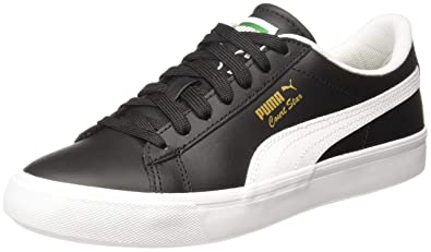 huge discount e5eb3 7914a Puma Men's Court Star Vulc FS Black Leather Sneakers-3 UK ...