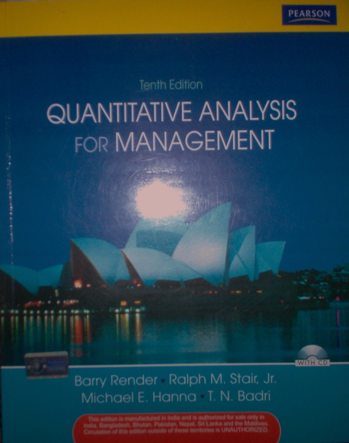 Quantitative Analysis for Management 10th edition PDF