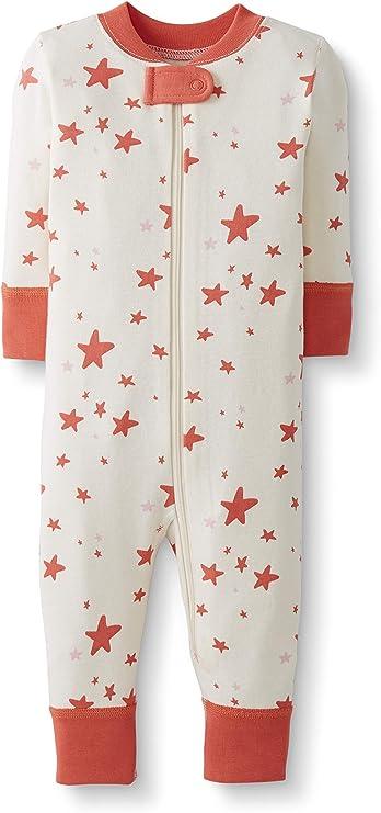 Moon and Back de Hanna Andersson - Pijama de una pieza sin pies hecho de algodón orgánico para bebé, Coral Star, 0 messes (45 CM): Amazon.es: Ropa y accesorios