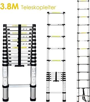 femor 3.2 m/3.8 m/5 M extensible aluminio telescópica Escalera de aluminio telescópica (con base ampliadas aluminio escalera espalderas Escalera schiebel eiter – Escalera plegable: Amazon.es: Bricolaje y herramientas