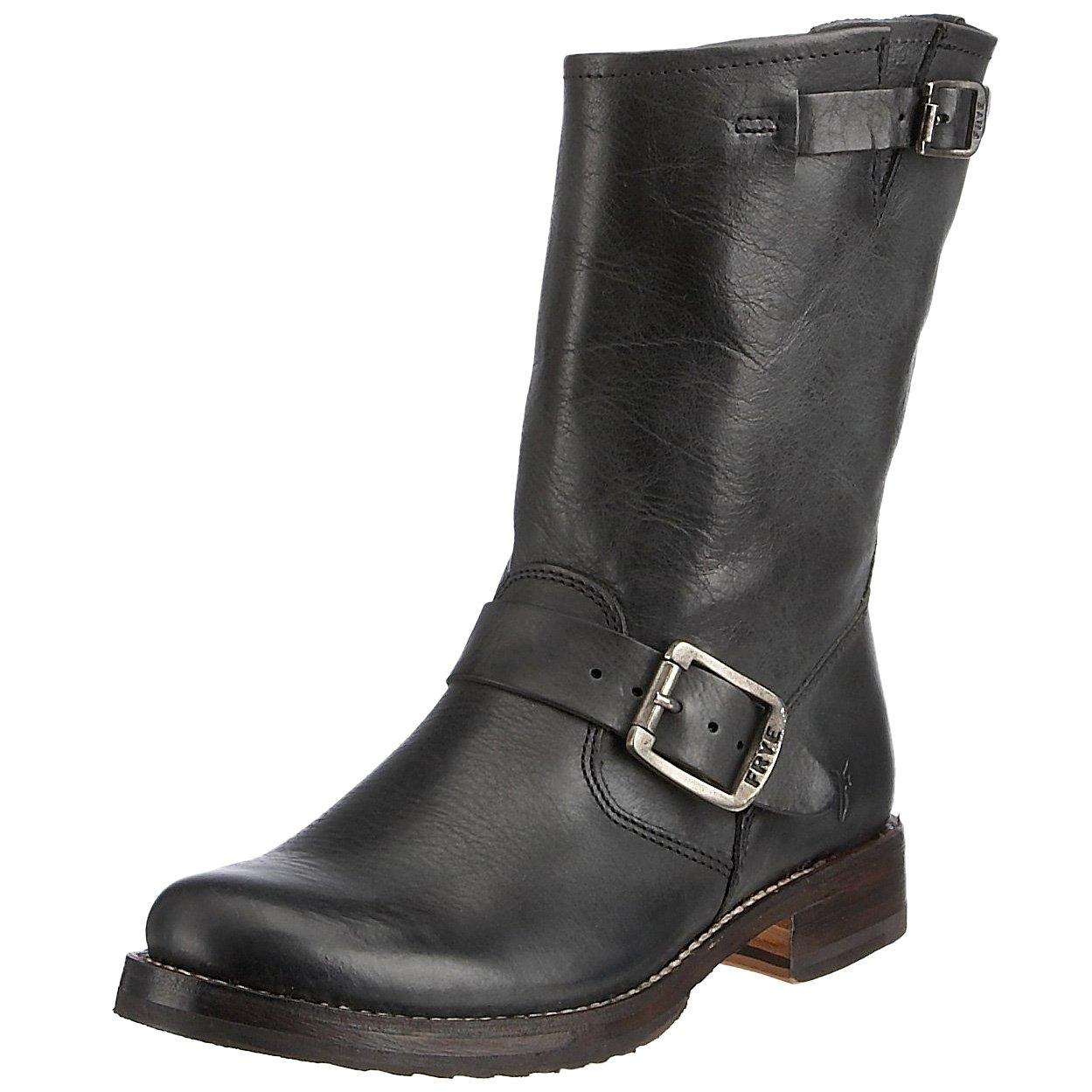 FRYE Women's Veronica Short Boot, Black Tumbled Full Grain, 7.5 M US