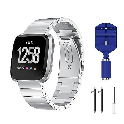 Amazon.com: Yayuu Fitbit Versa bandas de reloj Metal ...