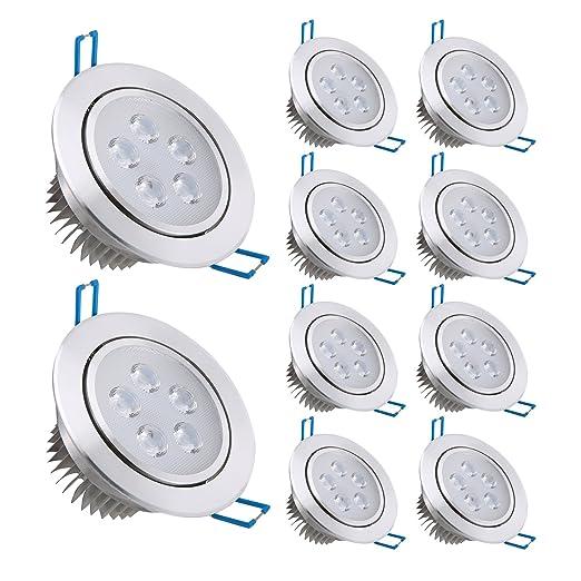 42 opinioni per Liqoo Faretti LED Incasso 10×Luci da Incasso Cartongesso Plafoniere LED Soffitto