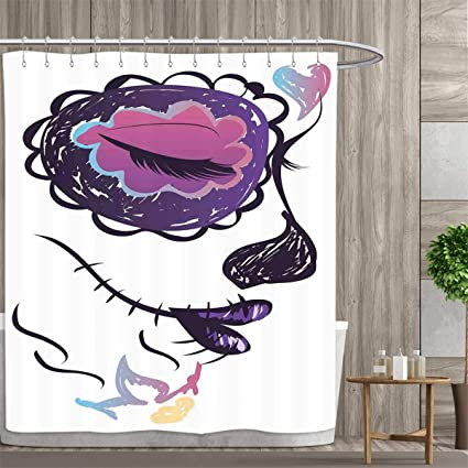 Anniutwo Day Of The Dead Shower Curtain Collection By Sugar Skull Girl Face With Make Up