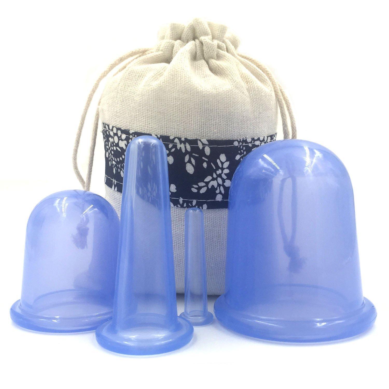 Clairty ventouses en silicone pour la cellulite visage Corps de massage ventouses ventouses Ensemble de thérapie