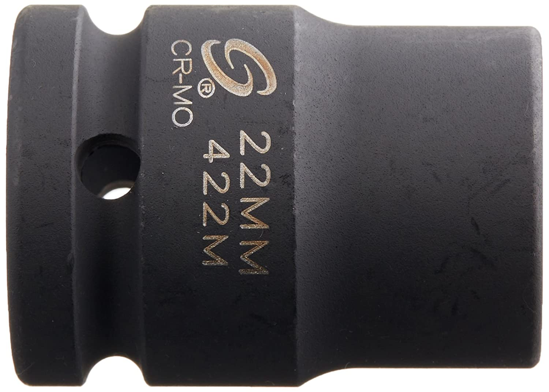Sunex 422m 3//4 Drive 22-Mm Impact Socket