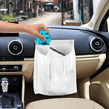 IWILCS 30Pcs Car Trash Bag Disposable Garbage Bags Auto With Large Capacity
