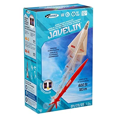 Estes Javelin Flying Model Rocket Launch Set Kit: Toys & Games