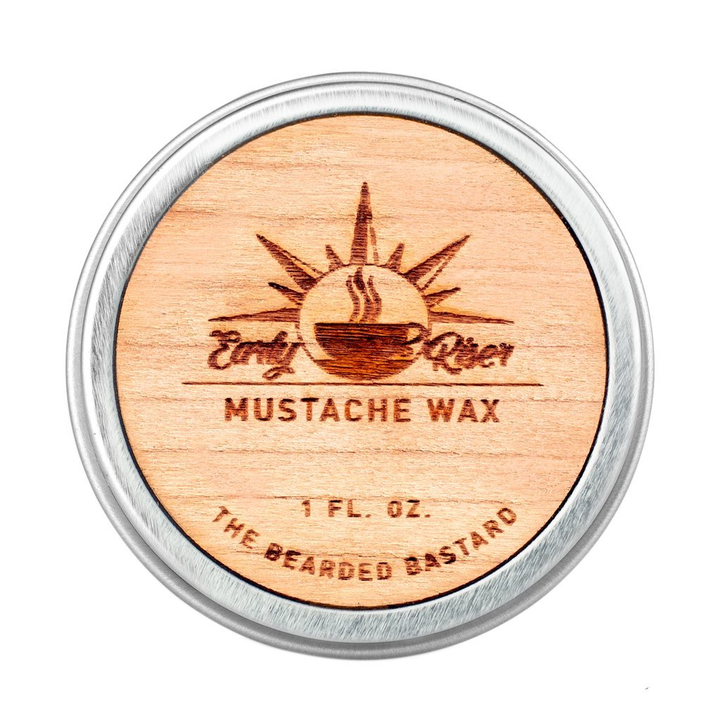 Early Riser Mustache Wax by The Bearded Bastard   A Strong Hold  Mustache Grooming, Men's Grooming, Hydrating, Essential Oils, Beeswax, Jojoba Oil, Mens Care, Facial Hair Products   ALL NATURAL, 1oz Men's Grooming The Bearded Bastard\