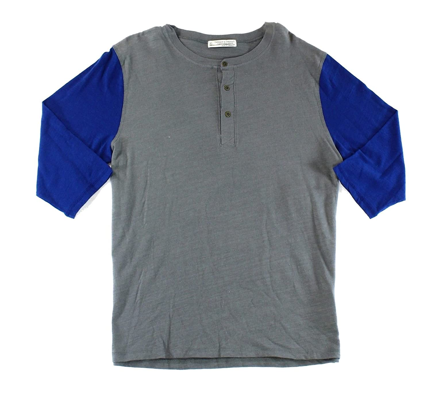 Threads 4 Thought Blue Men's Colorblock Henley Shirt