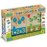 Teorema 40470 - Puzzle in Legno, Impara a Contare, Multicolore