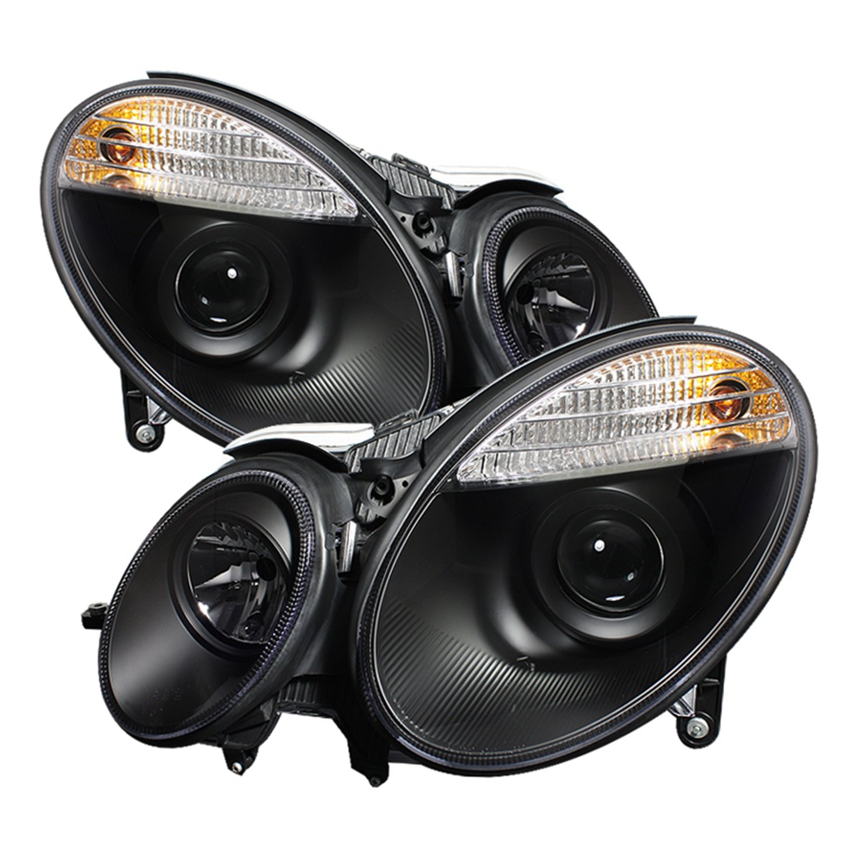 Spyder Auto PRO-YD-MBW21107-HL-BK Mercedes Benz E-Class W211 Black Halo Projector Headlight