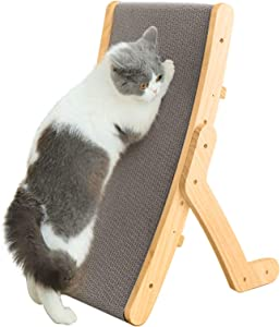 Cat Scratching Board,3 Forms-Sided Reusable Vertical Cat Scratching Post,Corrugated Cat Scratcher Cardboard for Furniture Protection,Cat Scratching Pad Lounge Relaxing Bed Cat Furniture