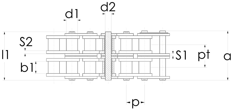 als Bund DIN 8187 // ISO606 // Teilung 9,525 mm x 5,72 mm 5m Rollenkette 06B-2 3//8 x 7//32