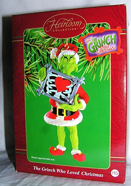 2000 carlton heirloom the grinch who loved christmas ornament