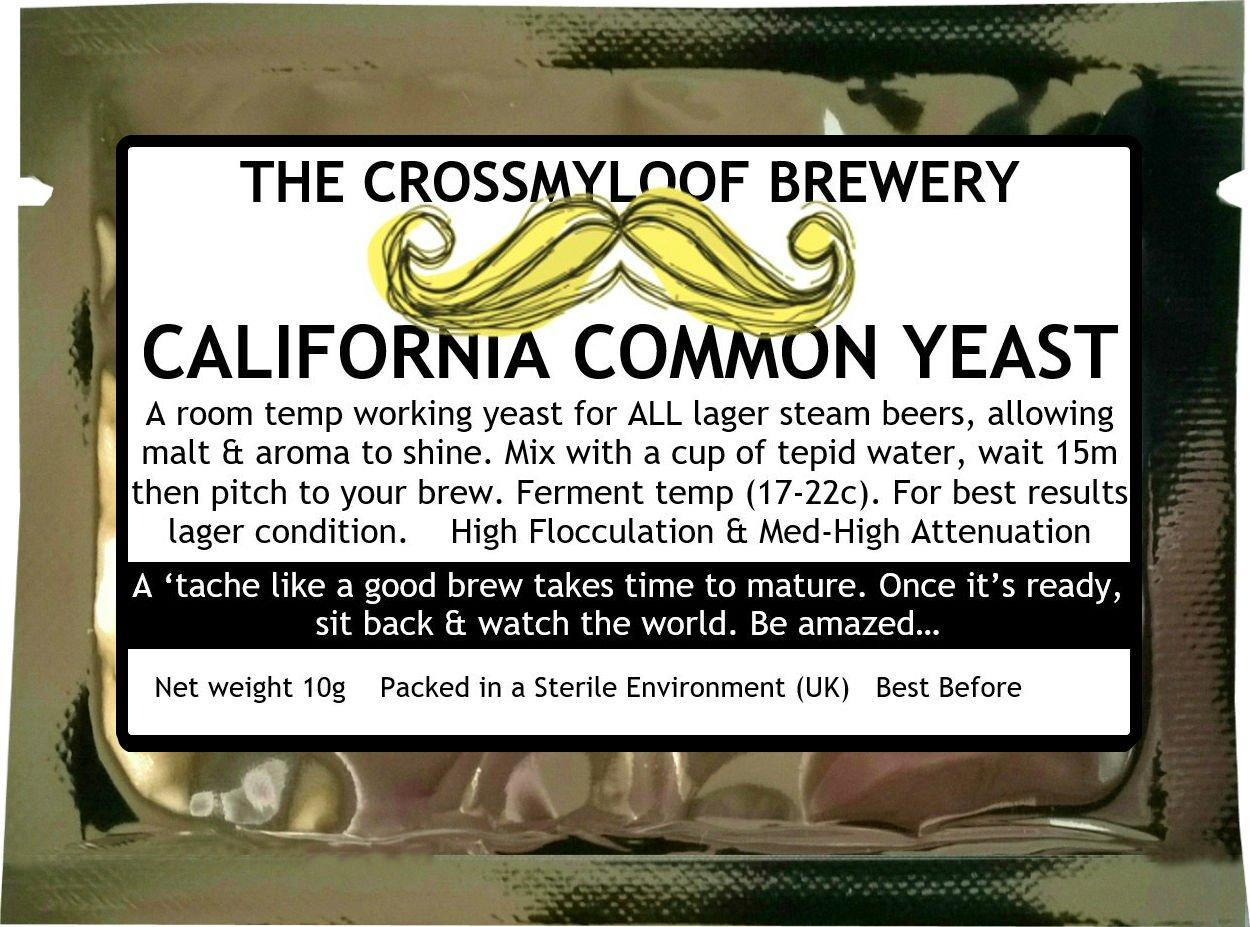 Home Brew levadura de cerveza. California común–California levadura de cerveza Lager. 3, 5y 10paquetes disponibles también. 10g The Crossmyloof Brewery