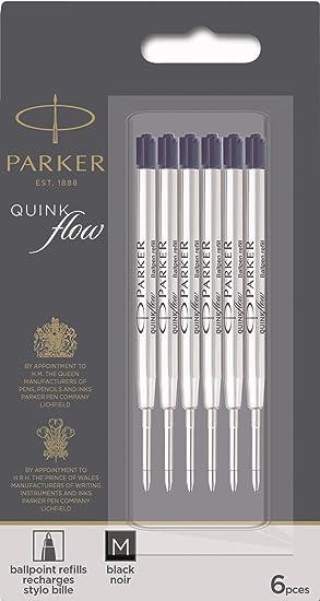 Parker Parker à bille Recharges Pen Fine Point 6//Pack Black