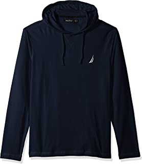 Nautica Mens Long Sleeve Jersey Pullover Hoodie Shirt