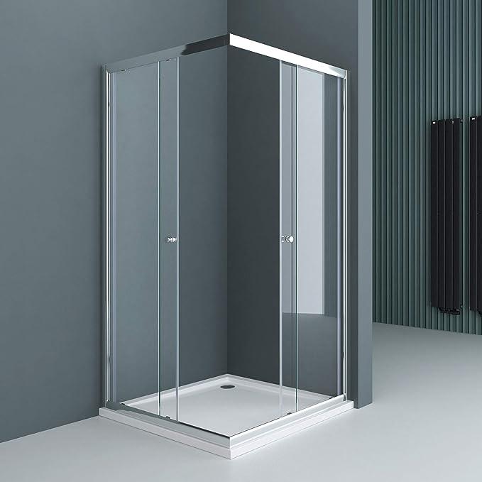 Sogood: Cabina de ducha de esquina Rav16K 75x70x190 Mampara de ...