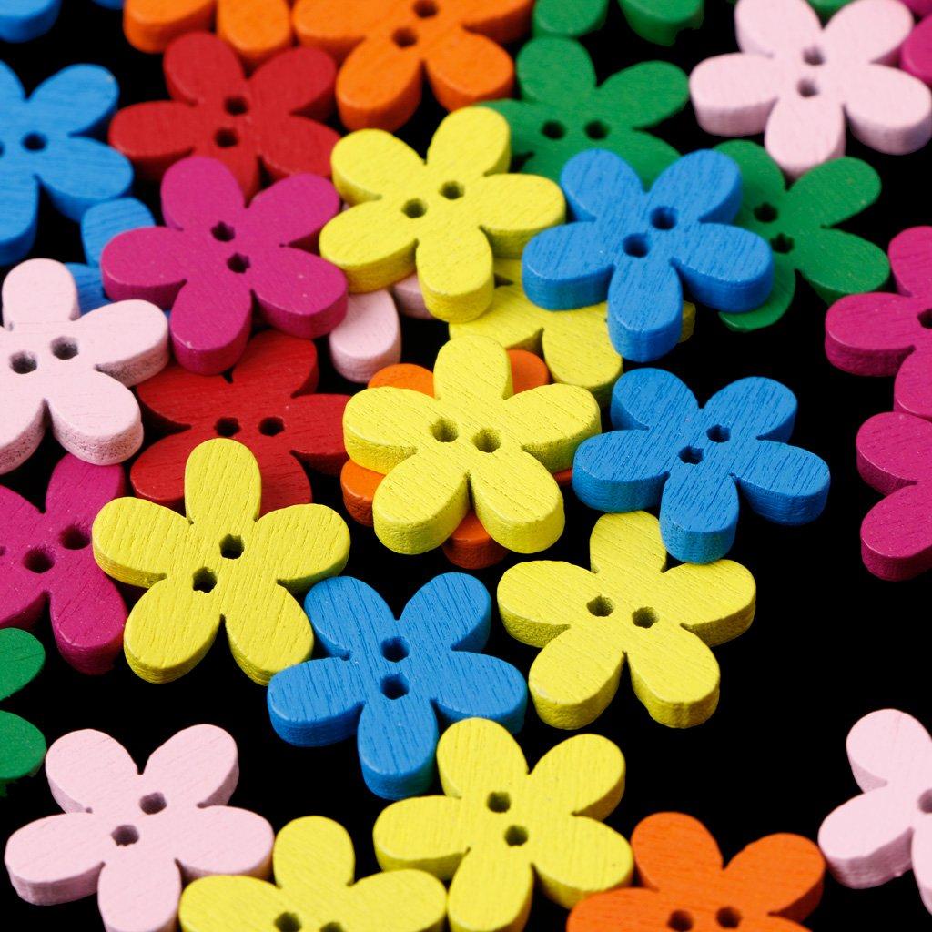 costura para scrapbooking DIY LhiverFR 50//100 letras de flores de coraz/ón mixtas de madera