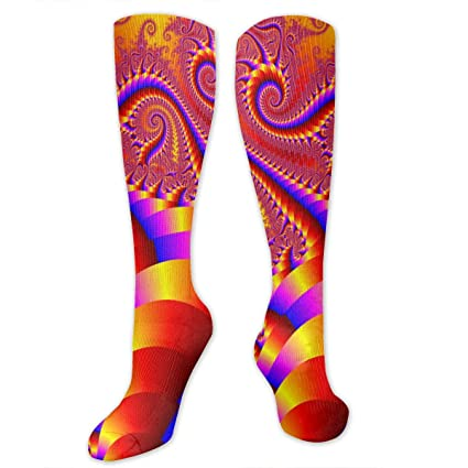 Travel Varicose Veins Ygsdf59 Psychedelic Trippy Compression Socks for Women and Men Best Medical,for Running Athletic