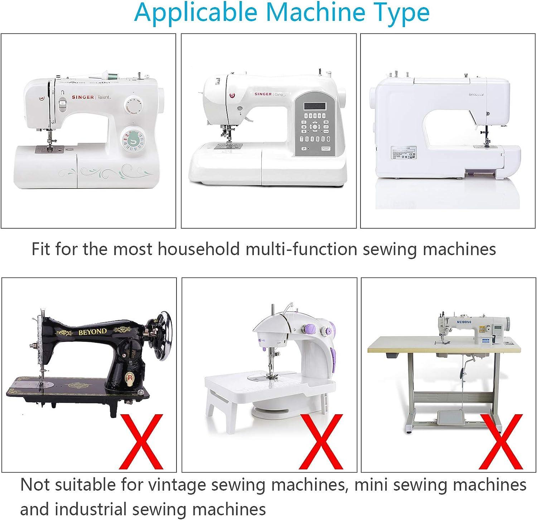 11pcs KATOOM Prensatelas Accesorios para Máquina de coser Accesorios Domésticos para Máquina de Coser Babylock, Viking (Serie Husky), Euro-Pro, Janome, Kenmore ...