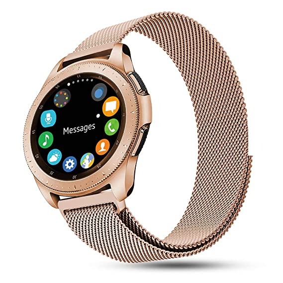 Dsytom Compatible with Galaxy Watch Active 40mm Band SM-R500,20mm Stainless Metal Strap for Samsung Galaxy Watch 42mm Band/Gear Sport Smart Watch ...