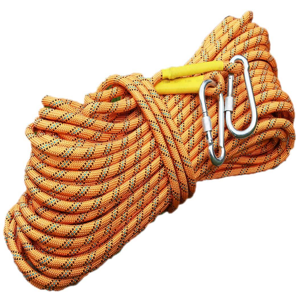 【激安大特価!】 アウトドア mm、プロ クライミングロープ ザイルガイロープ 安全 安全 10.5 高強度 mm、プロ 高強度 補助ザイル、カラビナ、登山 キャンプ 防災 B07QML2DYX orange 50m(164ft) 50m(164ft) orange, ホンジョウムラ:00727d20 --- a0267596.xsph.ru