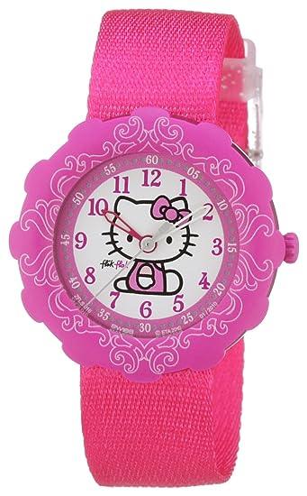 Swatch Hello Kitty - Reloj para niñas de cuarzo, correa de caucho color: Amazon.es: Relojes