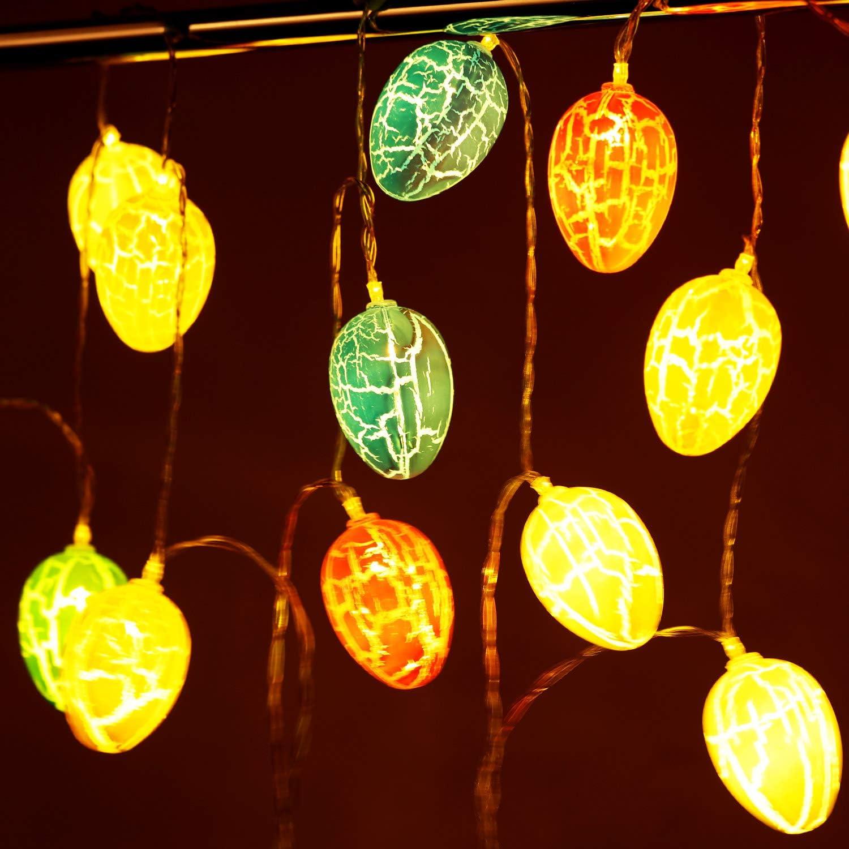 20 Oeufs Guirlande Lumineuse Oeuf de P/âques Lumi/ères LED dOeufs de P/âques Lumi/ères dOeufs de P/âques de Batterie Lumi/ères de D/écoration en Forme dOeuf 10 Pieds