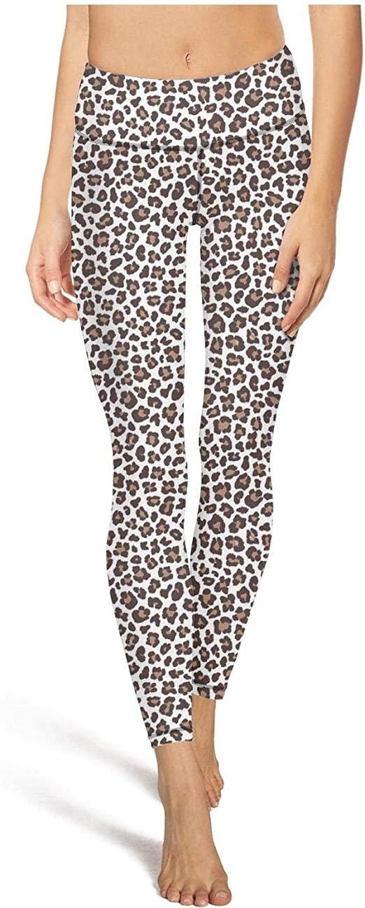 Woman/'s One Size Stretch Leopard Animal Print Black//Gray Leggings Junior/'s