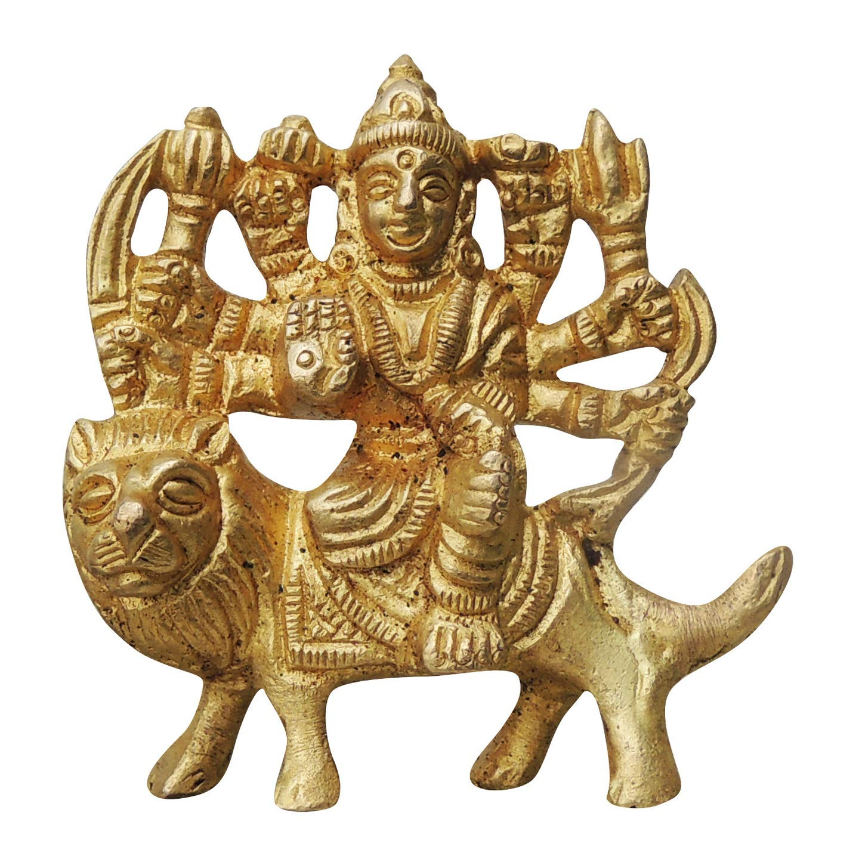 Brass Statue/Idol of Goddess Durga Ma Brass Durga Ji Statue